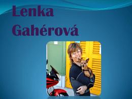 Lenka Gahérová