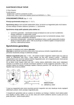 Synchrónne generátory
