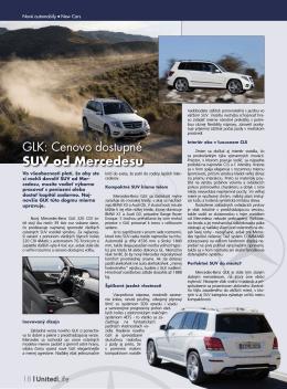 GLK: Cenovo dostupné SUV od Mercedesu