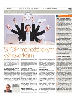 2011 Stop manažérskym výhovorkám