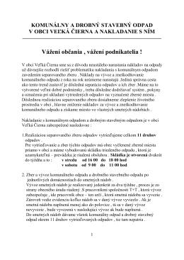 ODPADY - materiál - Obec Veľká Čierna