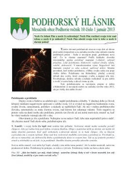 hlasnik-1-2013 - Obec Podhorie