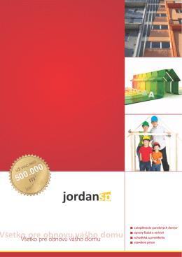 Všetko pre obnovu vášho domu - JORDAN