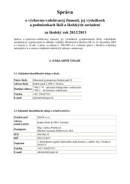 Správa - sgcr.sk