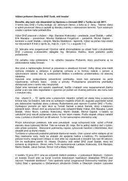 Výročná správa DHZ v Turíku 2011