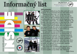 Január-Február 2013 - Spoločenstvo evanjelickej mládeže