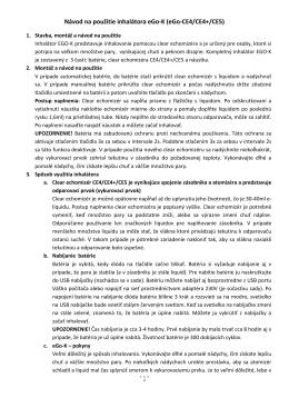 Návod na použitie inhalátora eGo-K (eGo