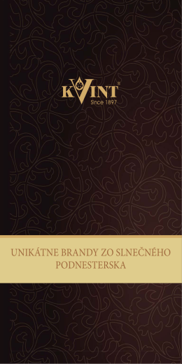 Degustačné poznámky brandy KVINT