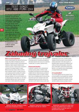 Test SONIC ATV 400 PUMA 2x4