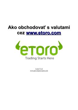 Ako obchodovať s valutami cez cez www.etoro