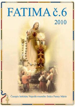 Fatima 1-16.cdr - Inštitút Nepoškvrneného Srdca Panny Márie