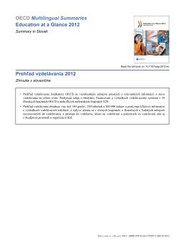 Prehľad vzdelávania 2012