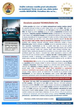 Auto VIN 2015 - www:Autosumo.sk