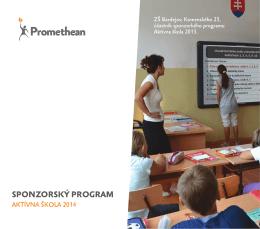 Stiahnuť leták sponzorský program 2014