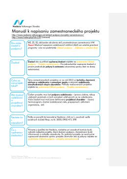 vzorovú žiadosť - Nadácia Volkswagen Slovakia