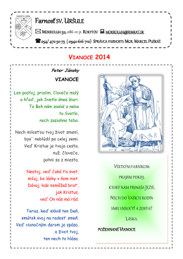 liturgický program v týždni od 22.12.2014 do 28.12