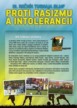 špeciálna brožúra. - Futbal proti rasizmu