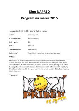Program kina na marec 2015