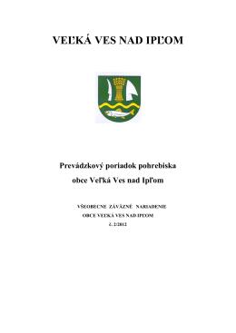 VZN 2/2012 Prevádzkový poriadok pohrebiska