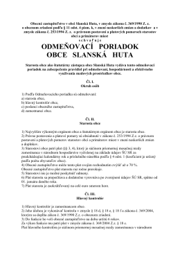 Odmeňovací poriadok obce