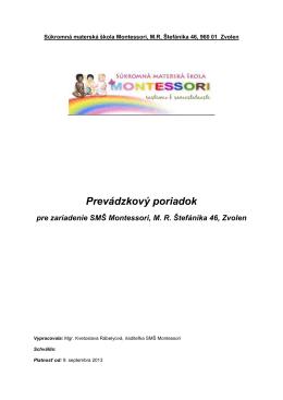 Prevádzkový poriadok 2013