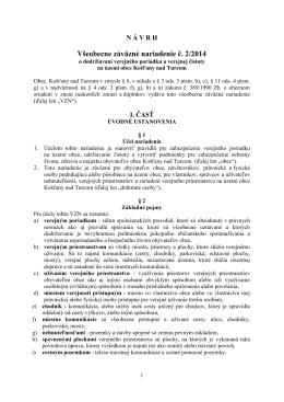 Všeobecne záväzné nariadenie č. 2/2014