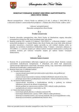 rokovací poriadok komisií obecného zastupiteľstva