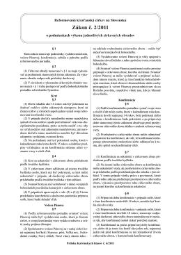 2-2011 o podmienkach výkonu jednotlivých