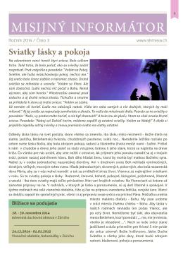 Misijny Informator rocnik 2014 cislo 3