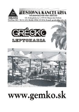 GRÉCKO - gemko.sk