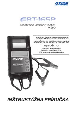 Manuál EBT 165P V2.0