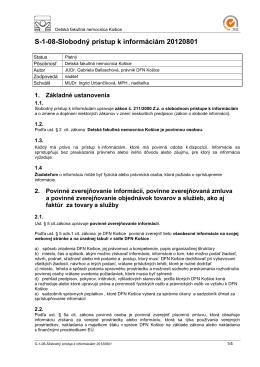 S-1-08-Slobodný prístup k informáciam 20120801