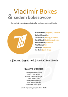 Bulletin koncertu - Slovak Music Bridge