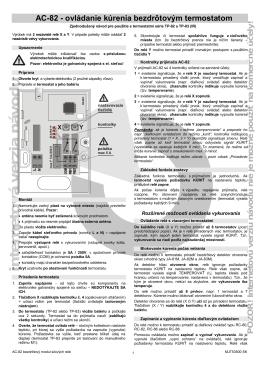 AC-82 - Ovládanie kúrenia bezdrôtovým termostatom