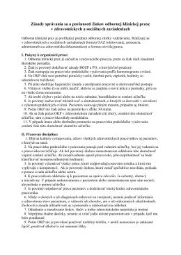 Zásady správania sa a povinnosti žiakov odbornej