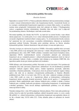 Kybernetická politika Slovenska