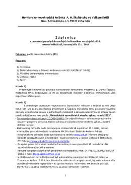 Porada knihovníkov 13.1.2014 (PDF) - Hontiansko
