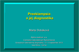 Preeklampsia a jej diagnostika