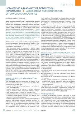 hodnotenie a diagnostika betónových konštrukcií