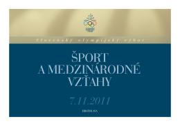 ŠPORT a MEDZINÁRODNÉ VZŤAHY - Slovenský olympijský výbor