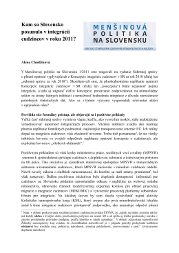 Kam sa Slovensko posunulo v integrácii