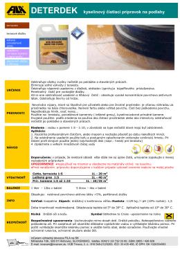 DETERDEK kyselinový čistiaci prípravok na podlahy