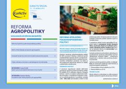 RefoRma agropolitiky