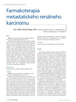 Farmakoterapia metastatického renálneho karcinómu
