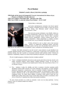 Pavol Bodnár Jazzová dielňa