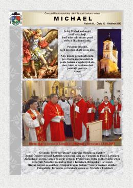 Michael - október 2013 - Rímskokatolícka cirkev Farnosť Levice mesto