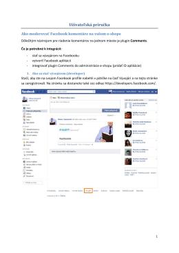 Ako moderovať Facebook komentáre na vašom e-shope