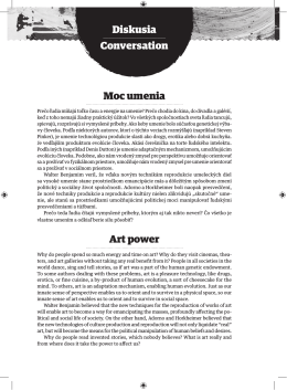 Moc umenia Art power Diskusia Conversation
