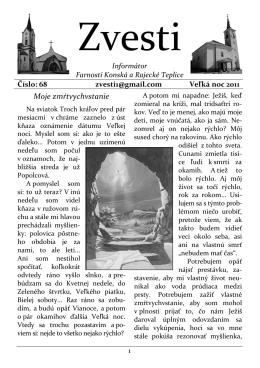Zvesti - Rímskokatolícka farnosť Rajecké Teplice
