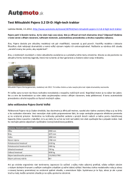 Test Mitsubishi Pajero 3.2 DI-D: High